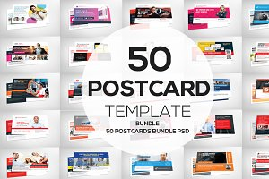 50 Business Postcards Bundle