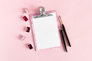 Pink clipboard