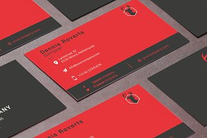 (EU) Clean business card template