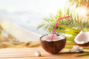 Coconut drink tropical