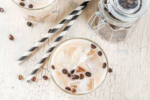 Summer cold Iced coffee frappe