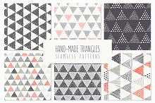 Triangles. Seamless Patterns. Set 4