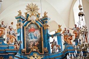 iconostasis on church