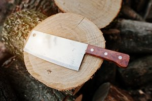 Kitchen hatchet knife