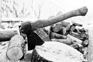 Axe in stump