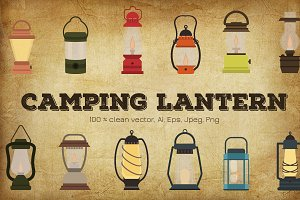 Camping Lantern vector illustration