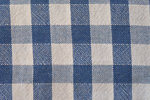 blue and white checkered fabric background