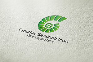Creative Seashell Icon Logo