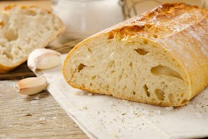 Ciabatta bread with spices