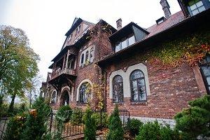 Old abandoned brick  mystic mansion