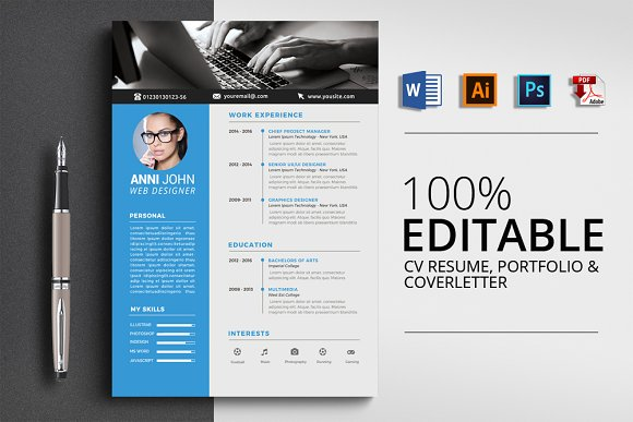 Word 3 Pages Resume