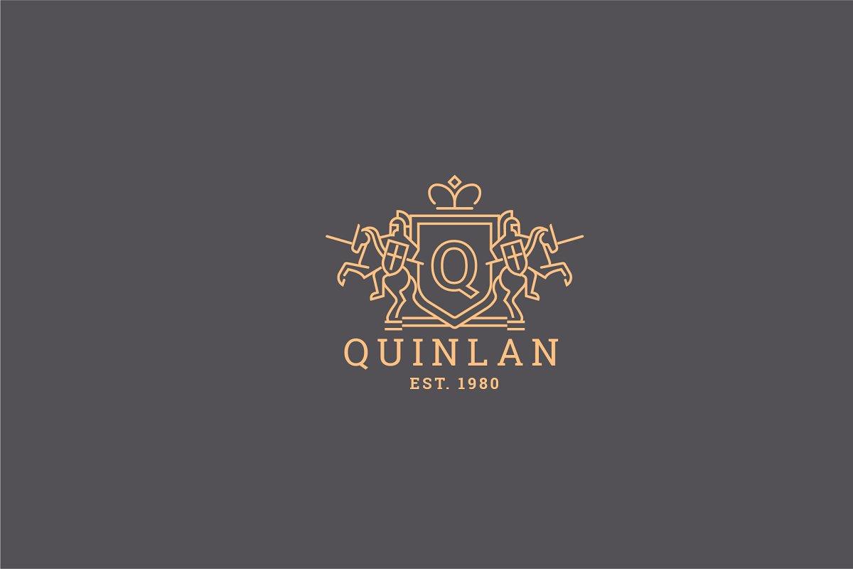 Letter Q Logo - Heraldic,Crest Logo