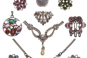 collection of jewelery bijouterie