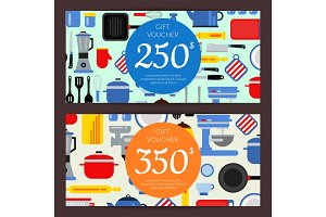 Vector flat style kitchen utensils discount
