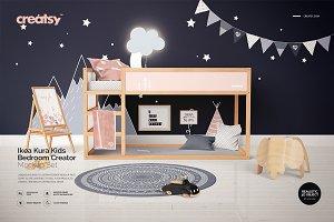Ikea Kura Kids Bedroom Mockups