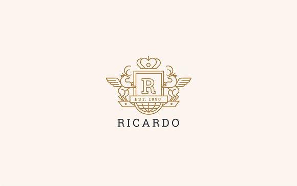 Letter R Logo - Heraldic,Crest Logo
