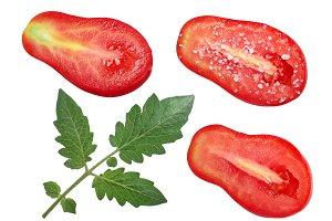 Pear tomato halves
