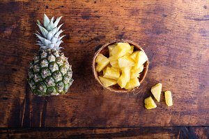 Pineapple on a table