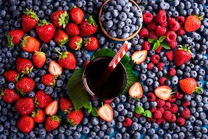 Berries juice