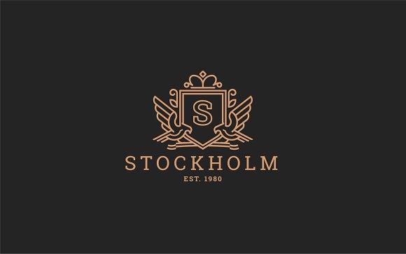 Letter S Logo - Heraldic,Crest Logo
