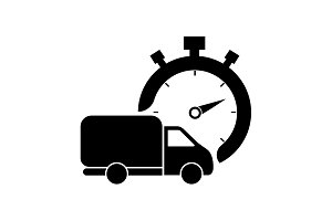 Fast delivery icon (silhouette).
