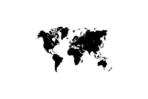 World Map Illustration. symbol