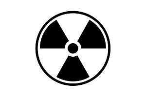 Flat radiation icon. vector