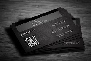 Creative Dark Dotted Business Card