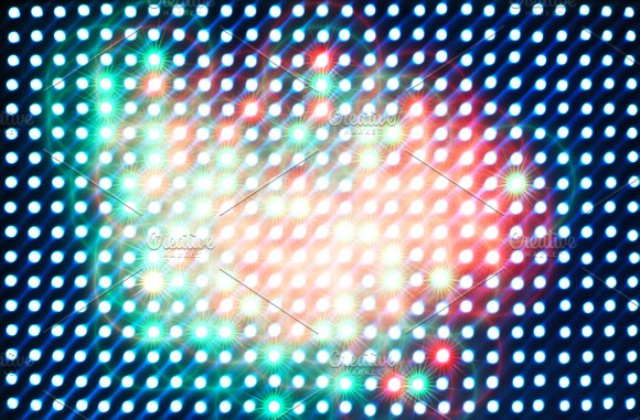 Retro arcade star shaped illumination texture background