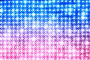 Horizontal blue and pink star shaped lamps texture background