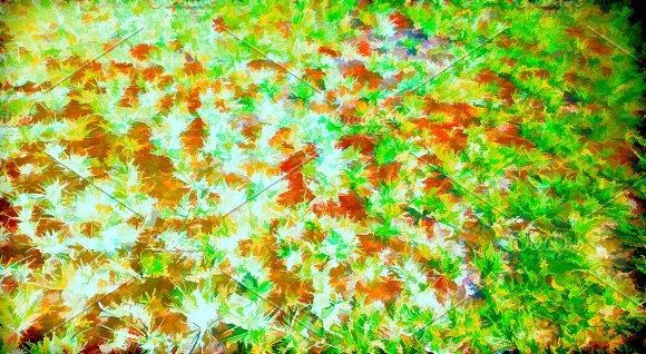 Horizontal Grass Painting Illustration Background