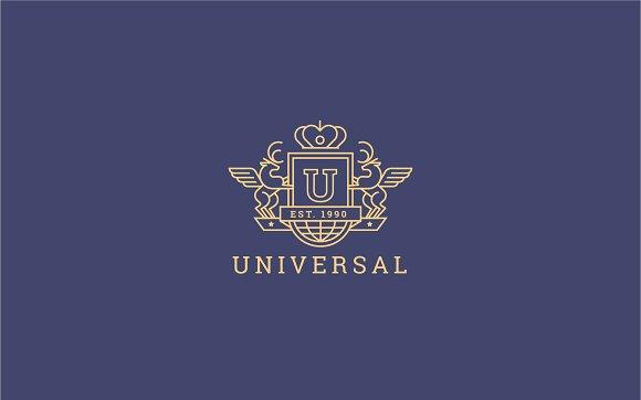 Letter U Logo - Heraldic,Crest Logo