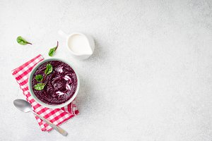 Detox beetroot puree