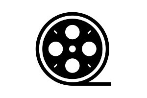 film reel icon. vector illustration
