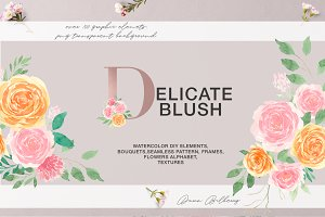 Delicate Blush - Spring Graphic set