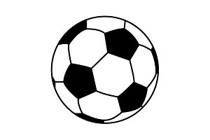 Soccer (football) ball icon. vector