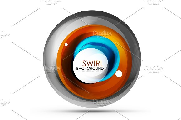 Spiral Swirl Flowing Lines 3D Vector Abstract Digital Motion Background Design Rotating Concept