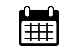 Calendar icon, vector illustration.