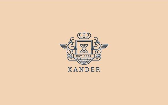 Letter X Logo - Heraldic,Crest Logo in Logo Templates