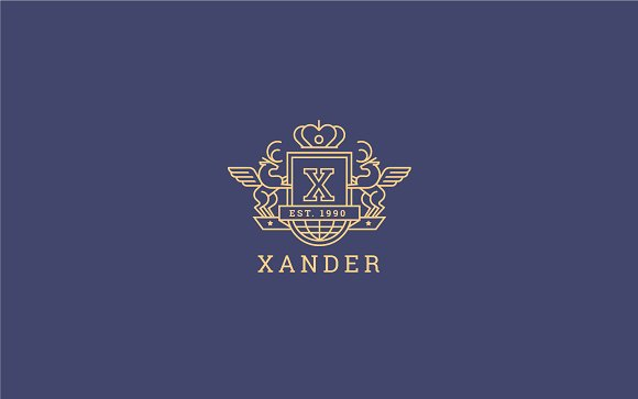 Letter X Logo - Heraldic,Crest Logo in Logo Templates - product preview 2
