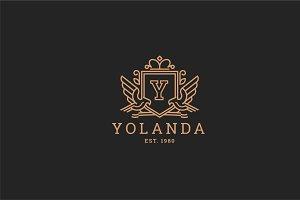 Letter Y Logo - Heraldic,Crest Logo