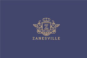 Letter Z Logo - Heraldic,Crest Logo
