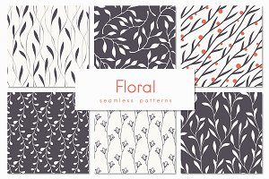 Floral Seamless Patterns Set