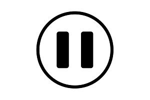 pause vector icon.