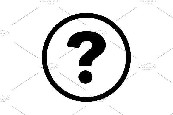 Pictograph Of Question Mark Vector