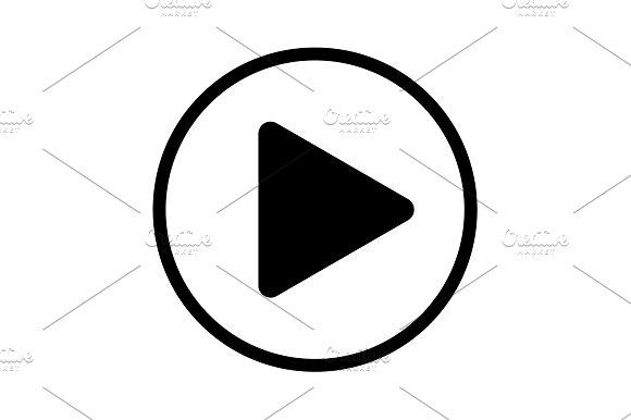 Play Button Web Icon Vector