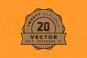 20 Vector Grit Textures – Pack 02