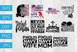 Marine SVG Cutting Files Navy Bundle
