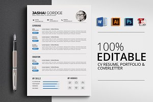 Clear MS Word Resume CV