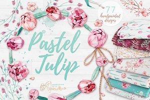 Pastel Tulip - Watercolour Set